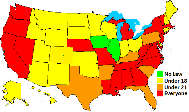 state helmet laws map