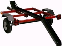 Harbor Freight Utility Trailer 1075 Pound Capacity 40 X 48 Bed 180 Optional Motorcycle Rail Kit 50