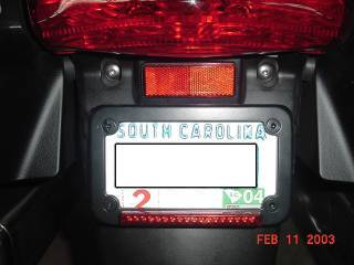 BackOff LED License plate frame