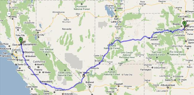 revised trip route